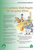 Poster: Zehn goldene Stall-Regeln (Download)