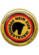 Button: Nein zur Pferdesteuer ! (Print)