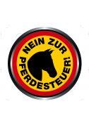 """Aufkleber """"Nein zur Pferdesteuer !"""" (Print)"""