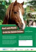 Poster: Rauf aufs Pferd ! Erfülle Dir Deinen Traum! (Print)